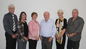 TransCare CEO Alan Gordon pictured with the Board of Directors (from left) Penelope Fenley, Marie Laurie, Brian Brown (chair) Virginia Mulcahy and Paul Hennessy.