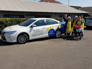 TransCare General Manager Garry Lane with Scone and District Cancer Support Group members Cath Coady, Sue Scott, Janette Haggarty and June Day.